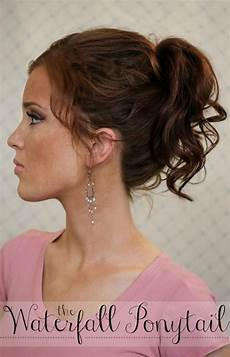 the freckled fox summers end hair week the waterfall ponytail