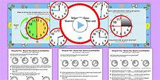 telling the time quarter past half past quarter to task setter powerpoint