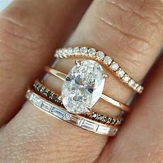stacking possibilities trabert goldsmith r th engagement rings wedding rings rose gold