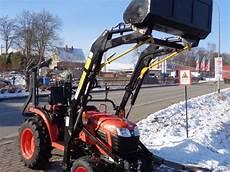 kleintraktor mit frontlader und strassenzulassung kubota kleintraktor kubota b1241 24ps neu mit allrad