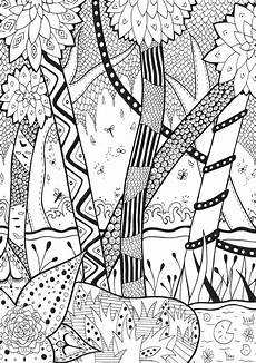jungle forest coloring pages for adults coloring
