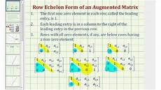 ex 2 solve a system of two equations with using an augmented matrix row echelon form youtube