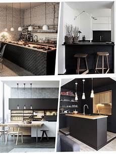 j ose le noir dans ma cuisine type industriel le