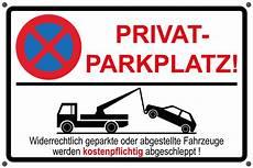 Schild Privatparkplatz Parken Verboten Parkverbot