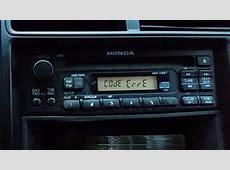 ERROR on a Honda radio   what to do   YouTube