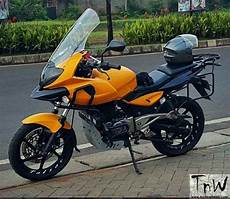 Pulsar 220 Modif by Bajaj Pulsar 220f Modified To Ducati Multistrada 1 Tech