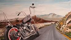 Harley Davidson Sur Route 66 Peinture Originale Catawiki