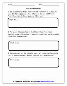 6th grade ratio word problems worksheet ratio word problems