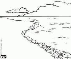 Malvorlagen Meer Und Strand Malvorlagen Landschaft Mit Strand Meer Und Wolken