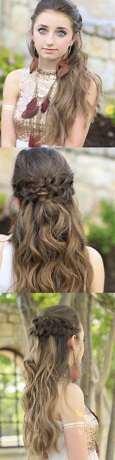 25 easy half up half down hairstyle tutorials for prom the goddess