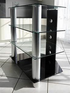 hifi rack glas hifi rack aus glas und aluminium zu verkaufen