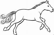 pferd im gallob ausmalbild malvorlage tiere