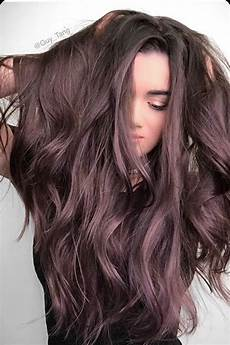brown amethyst dark chocolate brown hair with a lilac purple undertone hѧıяṡṭʏʟєṡ hair