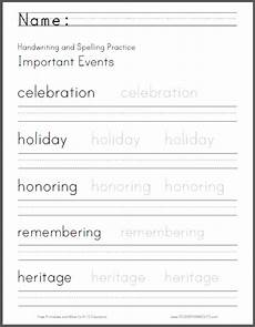 free printable handwriting worksheets for grade 1 21862 important events handwriting and spelling worksheet free to print pdf file educational