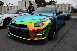 Thermal Chrome Nissan GTR At Cars And Coffee SF OC