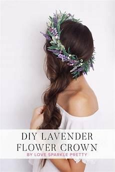 diy lavender flower crown in 2019 spring wedding ideas