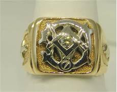 estatejewelrytreasures estate masonic diamond men s ring