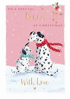 to a special nanny at christmas greeting card cards