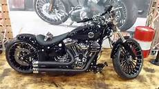 harley breakout 2015 2015 harley davidson breakout custom bike jekill hyde exhaust see also playlist