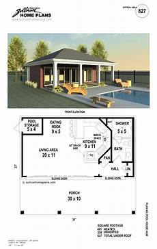 poole house plans b1 0827 p pool in 2019 pool houses pool house plans