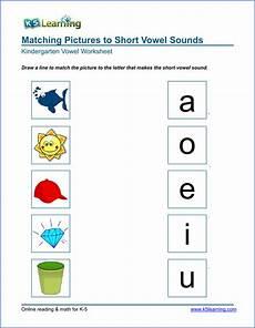 free preschool kindergarten vowels worksheets printable k5 learning