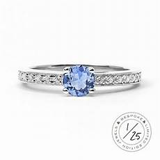 solar eclipse ethical sapphire engagement ring 18ct