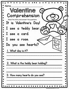 february math ela freebies reading comprehension worksheets kindergarten reading