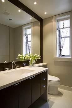 bathroom vanity mirror ideas an oversized mirror recessed lighting extended vanity