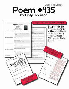introduction to poetry worksheets middle school 25328 poetry lesson quot poem 435 quot much madness by dickinson resource poetry lessons