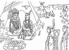 free coloring page coloring americans indians