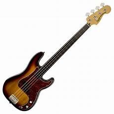 fender fretless precision bass squier vintage modified precision bass fretless 3 tone sunburst at gear4music