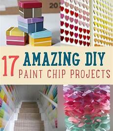 419 best paint chip crafts images pinterest