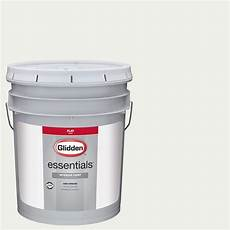 glidden essentials 5 gal hdgy56 white white flat interior paint hdgy56e 05fn the home depot