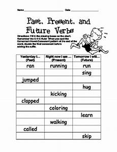 verb tenses inflected ending worksheet past present future 2nd 3rd 4th grade