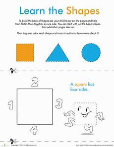 make a mini book learning our shapes worksheet