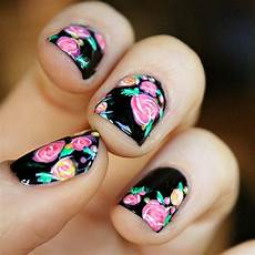 rose nail art design mommy moment
