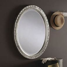 oval silver wall mirror 56x46cm exclusive mirrors