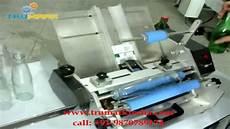 table top semi auto glue labelling machine glue