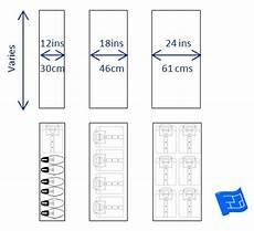 min depth of shelf and drawer depths with storage arrangements click