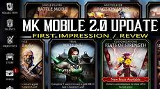 mortal kombat mobile mortal kombat mobile update 2 0 is here look