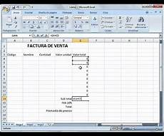 introducci 243 n a excel ejemplo factura youtube
