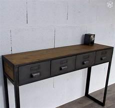 console d entrée console d entr 233 e avec anciens tiroirs industriels d 233 co consoles entr 233 e console et entr 233 e