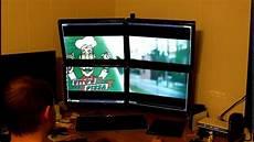 Tilan Komputer Monitor monitor setup 2x2 4 monitors