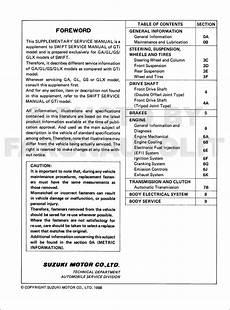 how to download repair manuals 1990 suzuki swift regenerative braking 1990 suzuki swift 1300 repair shop manual supplement original ga gs gl glx