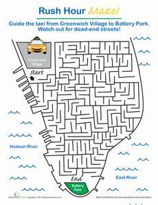 grammar maze worksheets 24882 new york maze hour geography for mazes for road trip with