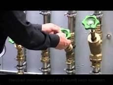absperrventil wasser reparieren montageschleuse ventil umbau