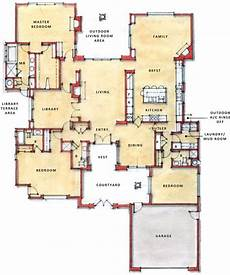 single story house plans with courtyard i d love to have a courtyard single story open floor