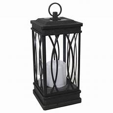 outdoor lighting 1 light solar black decorative lantern