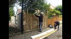Sichtschutz Terrasse Bambus - montage sichtschutz aus bambus www gh productsolutions