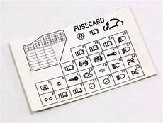 Dash Fuse Box Diagram Card Vw Beetle 98 10 1c0 010 232 K